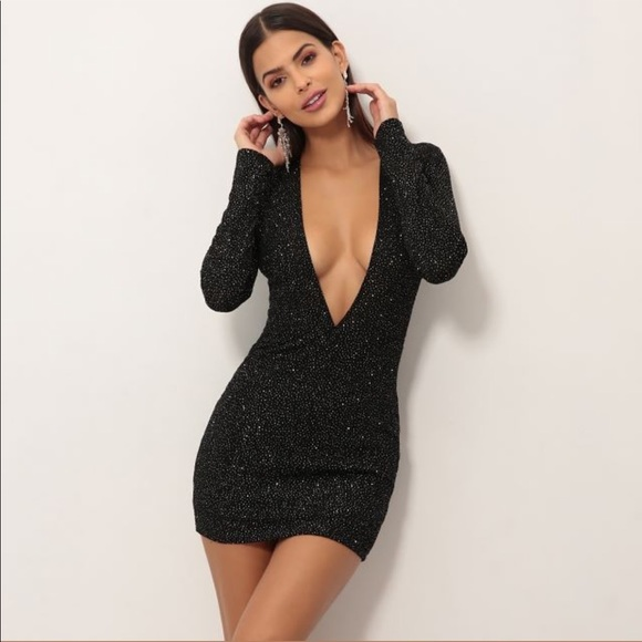056fd4f45ae90 lucy in the sky Dresses & Skirts - Lucy in the Sky bodycon, sparkly black